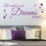 Lets Meet in our Dreams Tonight ~ Wall sticker / decals